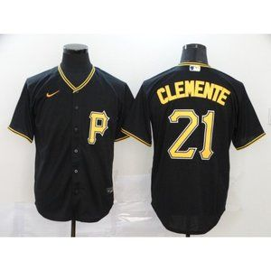 Pittsburgh Pirates Roberto Clemente Black Jersey